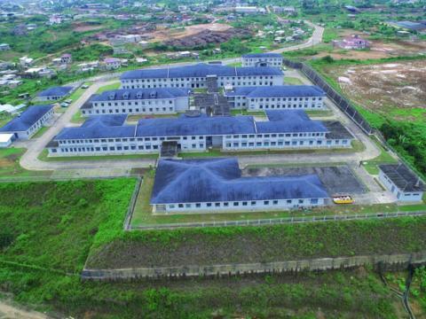 Vue aérienne de l 'Hôpital Gynéco-Obbstétrique de Douala